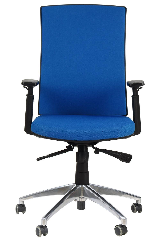 Fotel Biurowy Obrotowy EF KB8922B niebieski podstawa z polerowanego aluminium