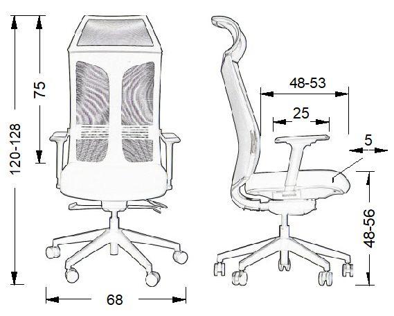 Fotel obrotowy RYDER