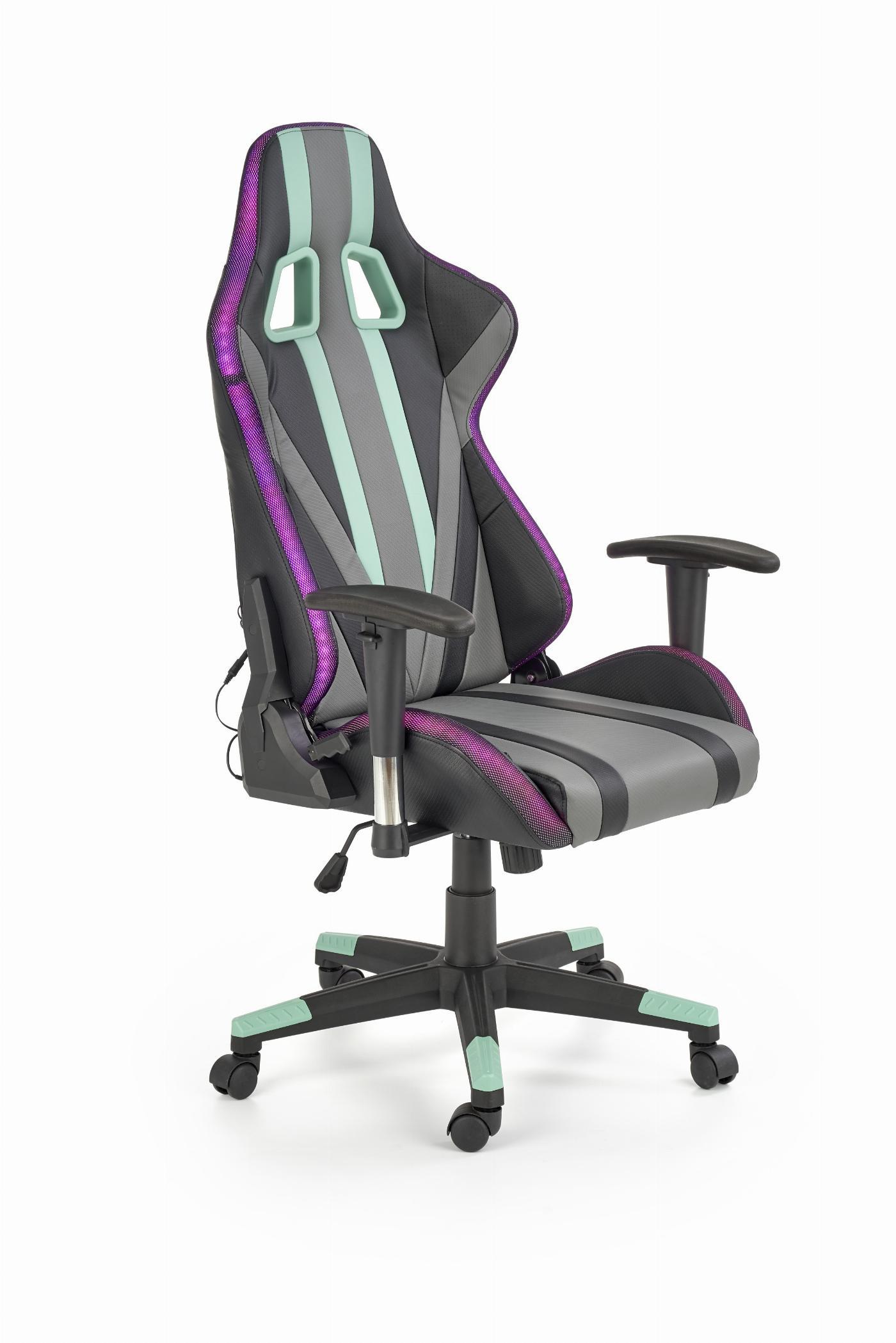 FACTOR fotel gamingowy z LED wielobarwny