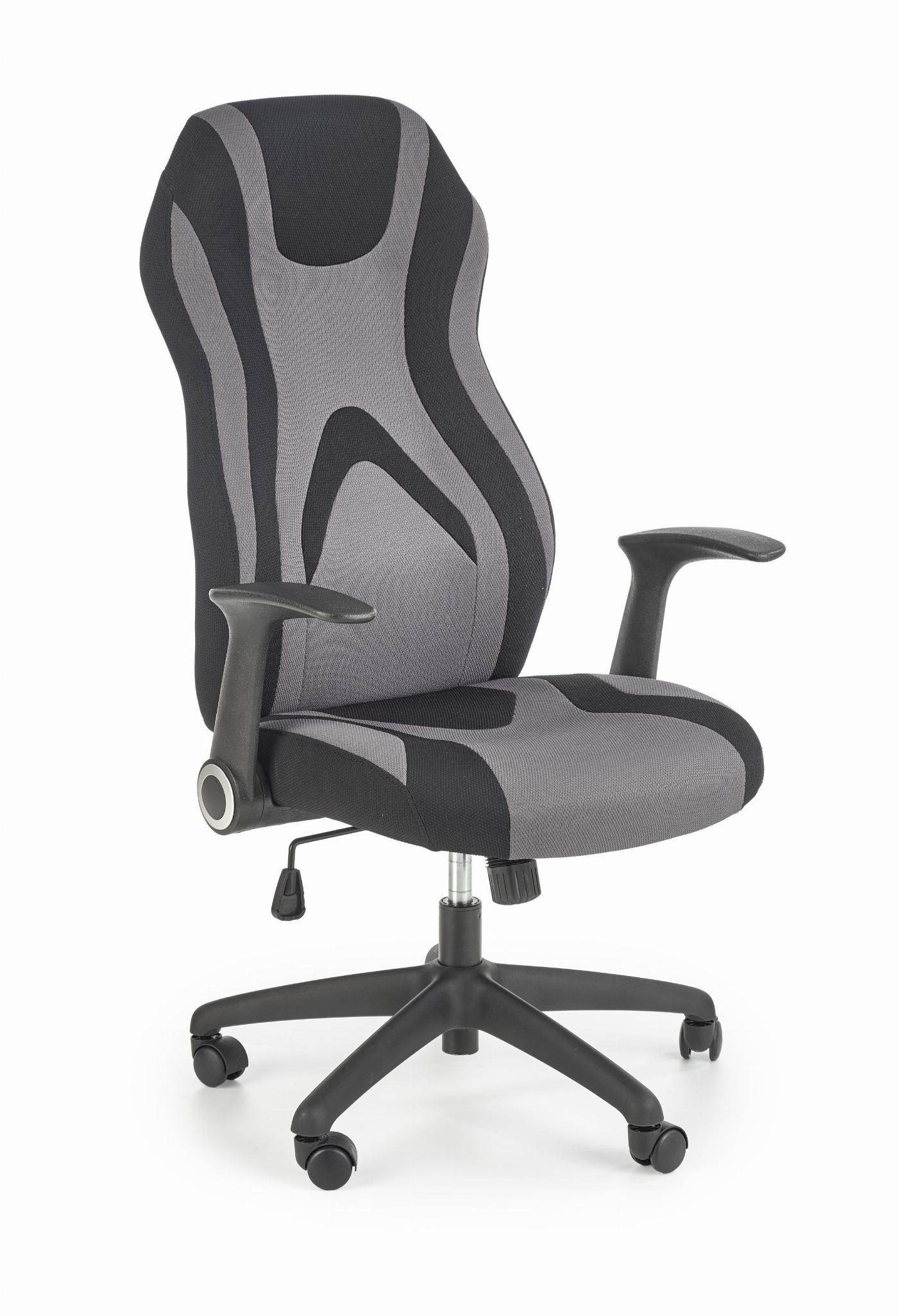 JOFREY fotel gabinetowy czarny / popielaty