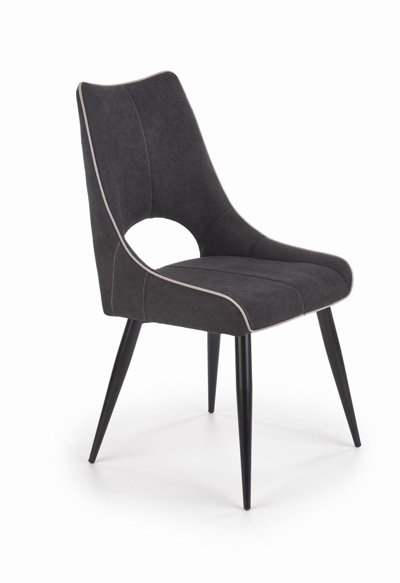 K369 krzesło ciemny popiel