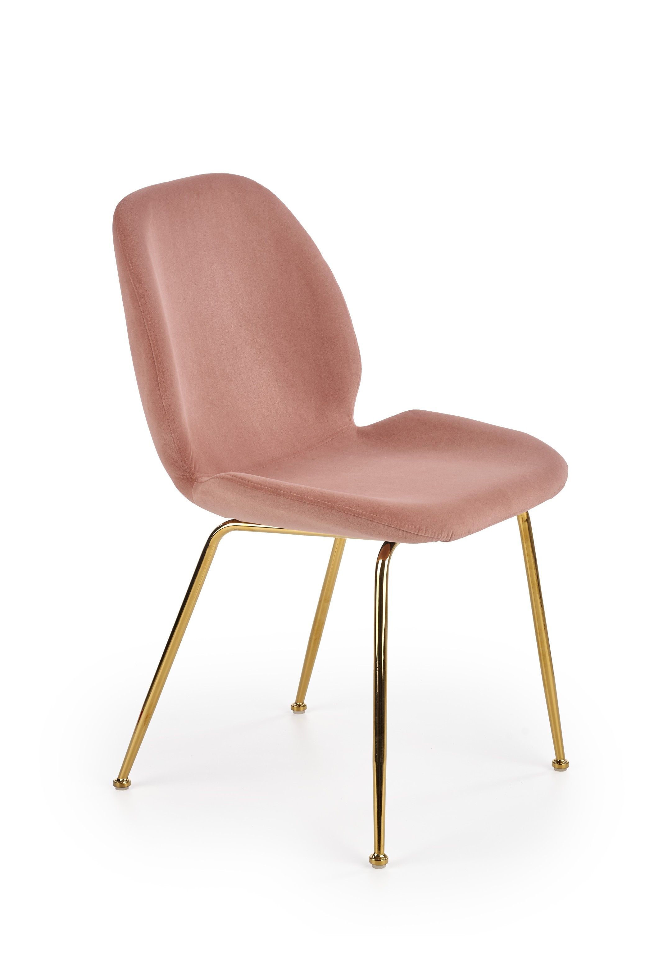 K381 krzesło różowy / złoty