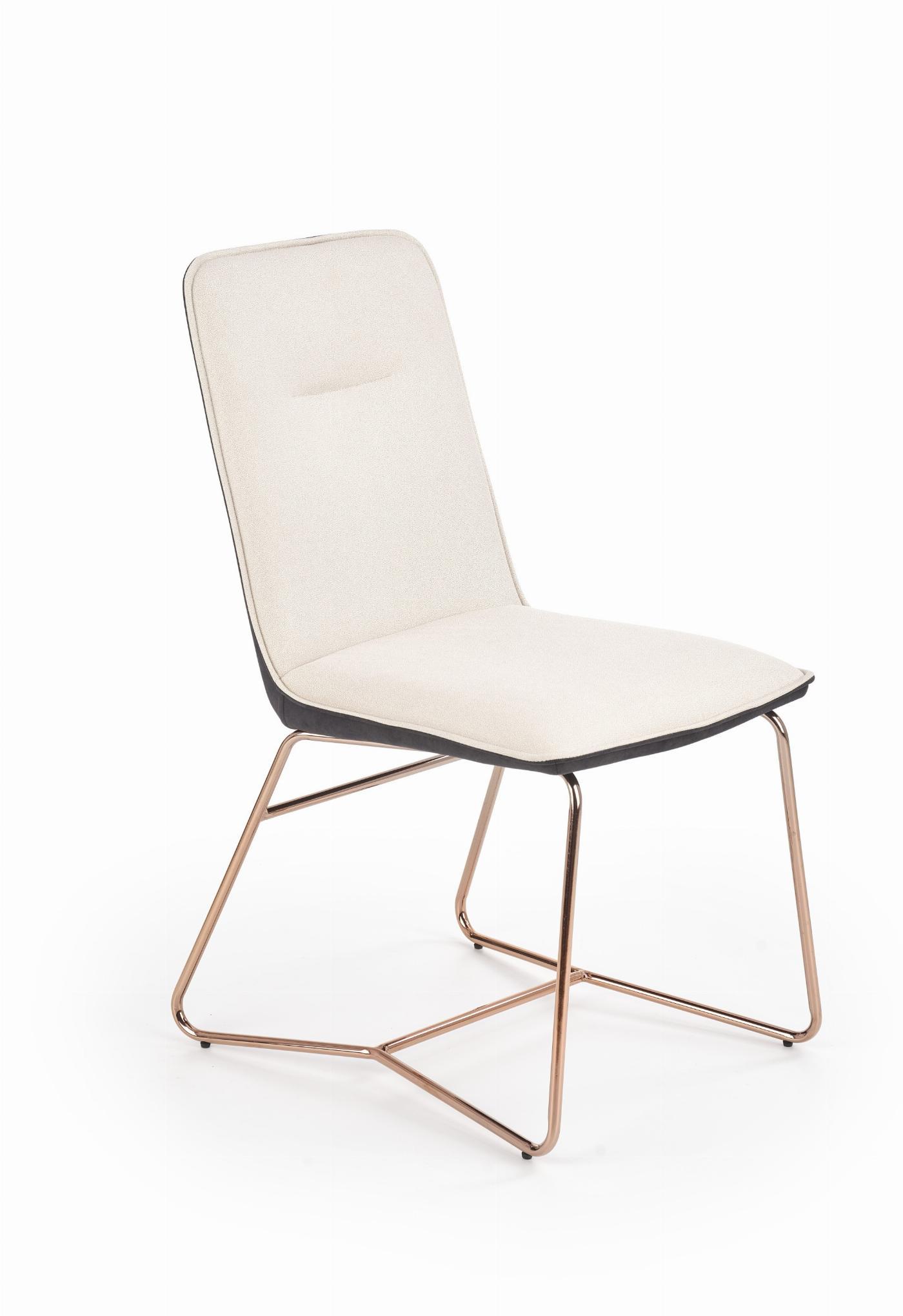K390 krzesło kremowy / ciemny popiel / złoty