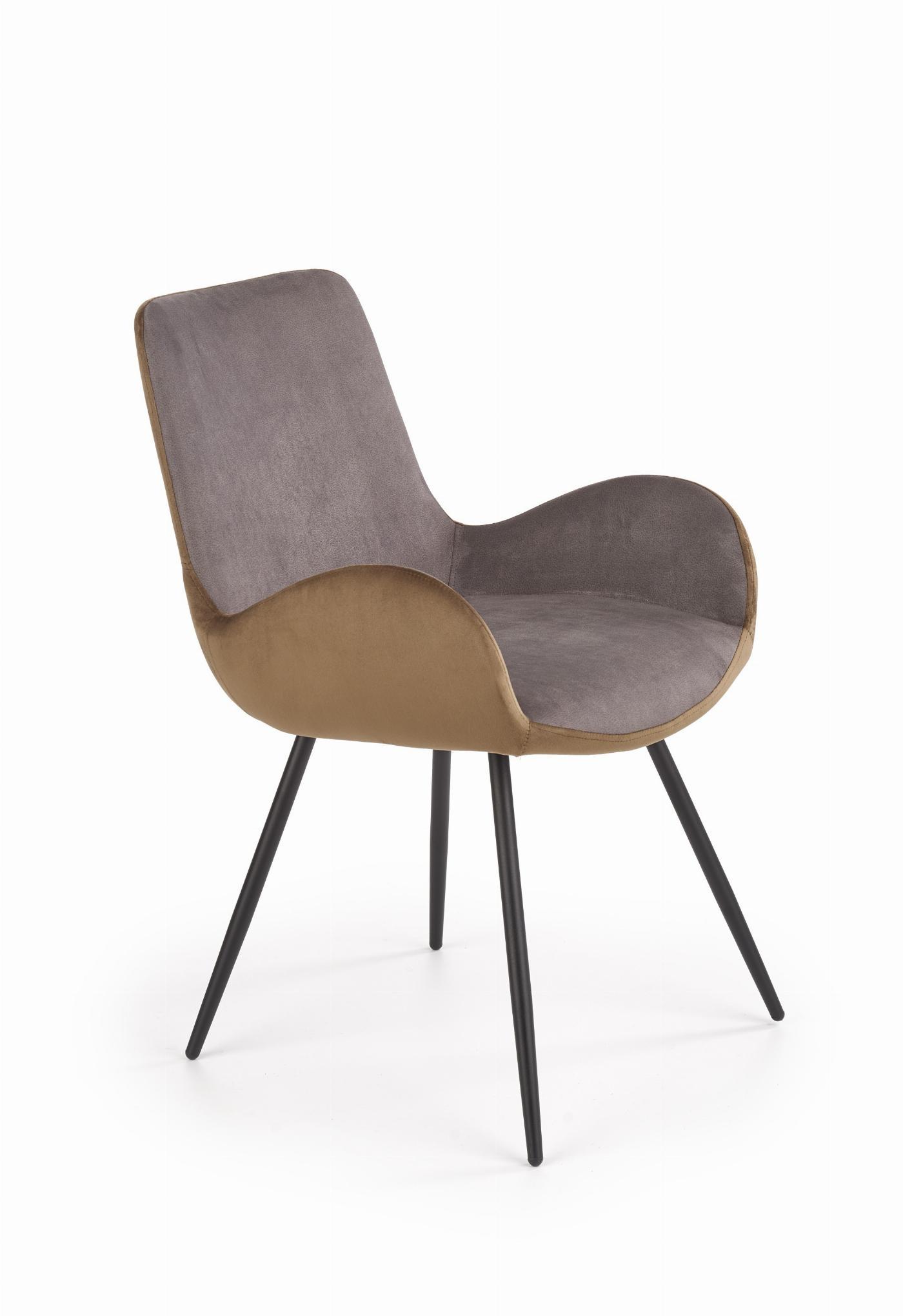 K392 krzesło popielaty / brązowy