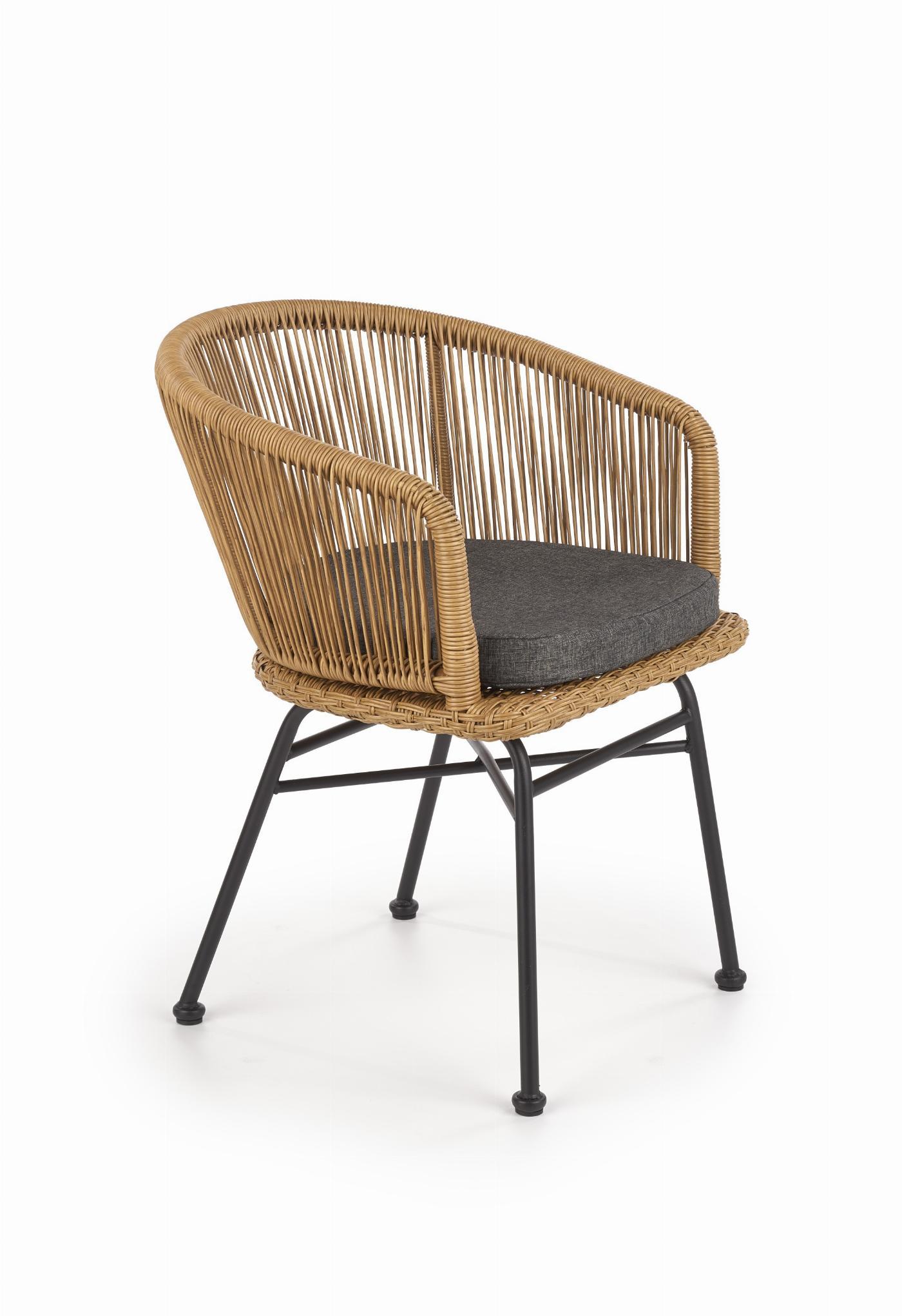 K400 krzesło czarny / naturalny / popielaty