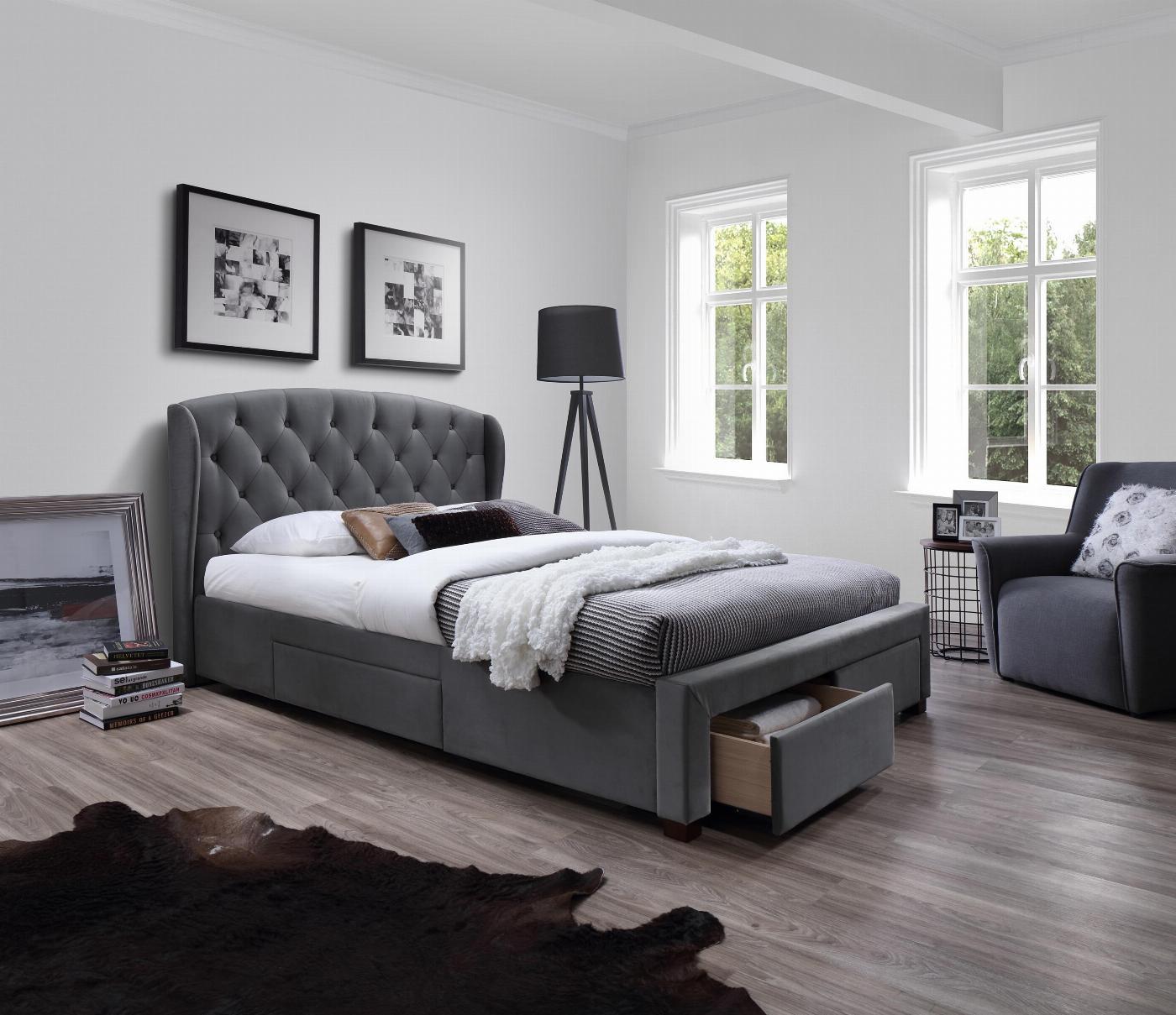 SABRINA łóżko z szufladami popiel (6p=1szt)