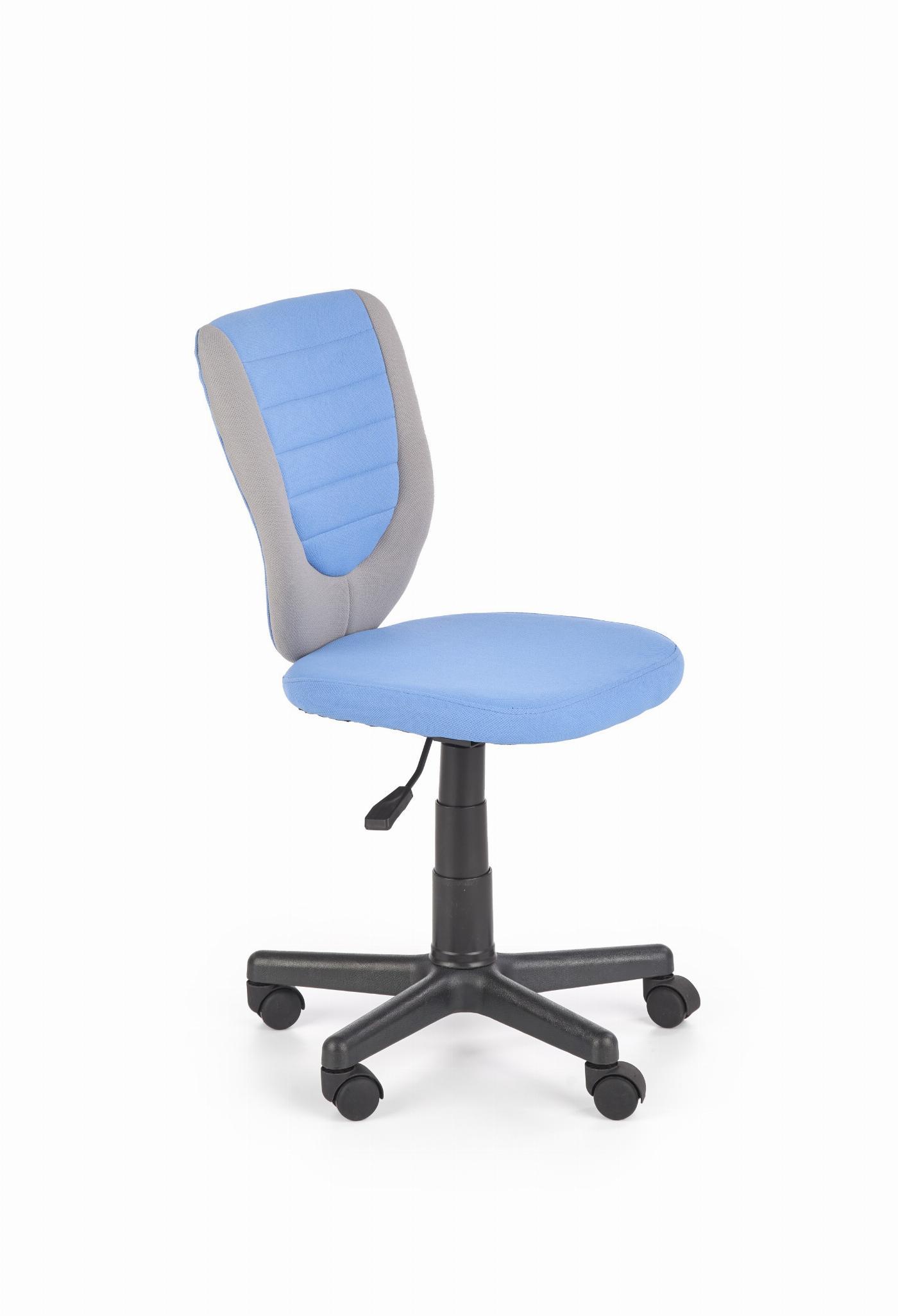 TOBY fotel młodzieżowy popielaty / niebieski