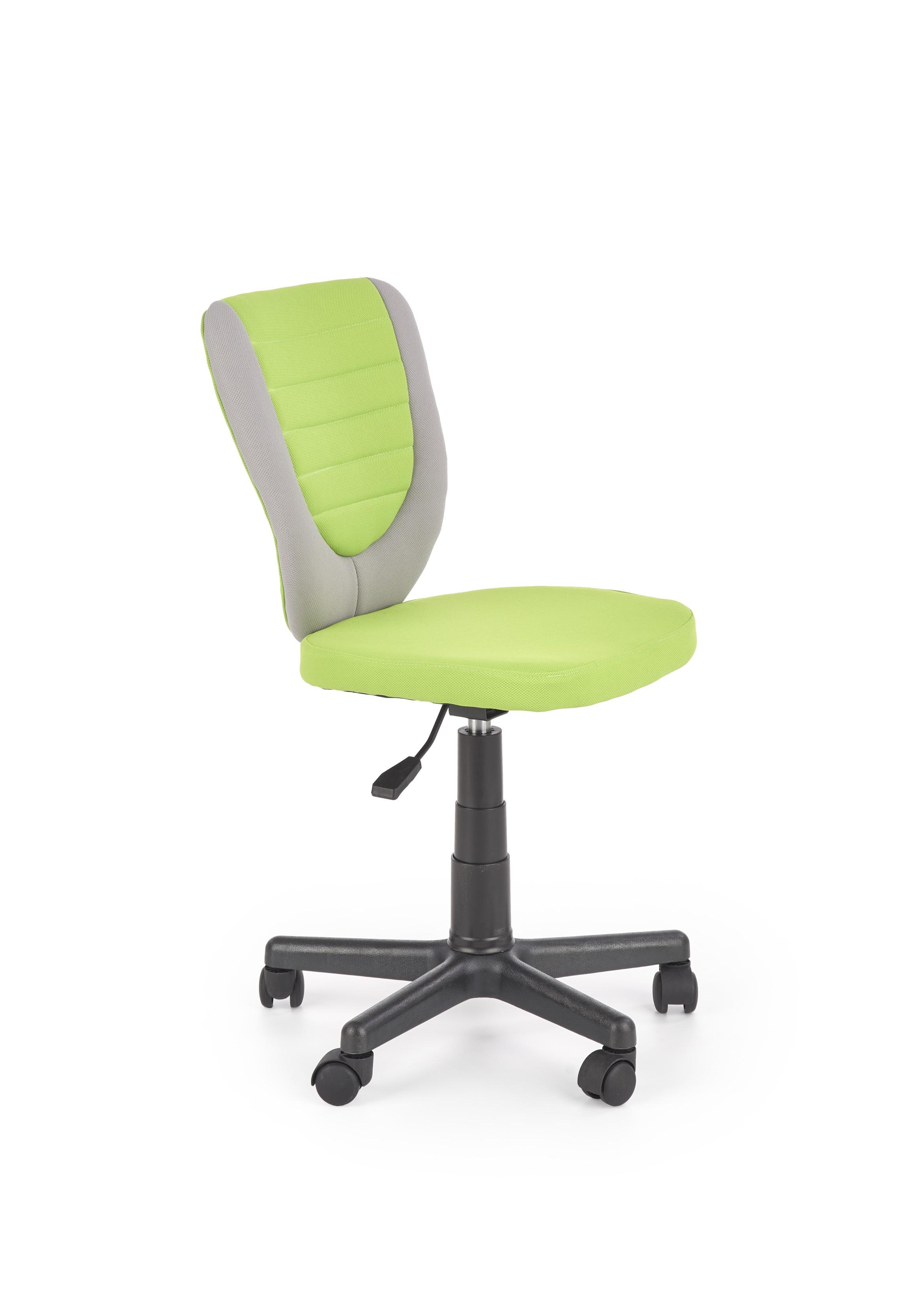 TOBY fotel młodzieżowy popielaty / zielony