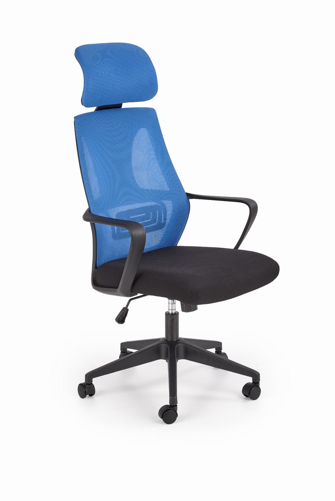 VALDEZ fotel pracowniczy niebieski / czarny