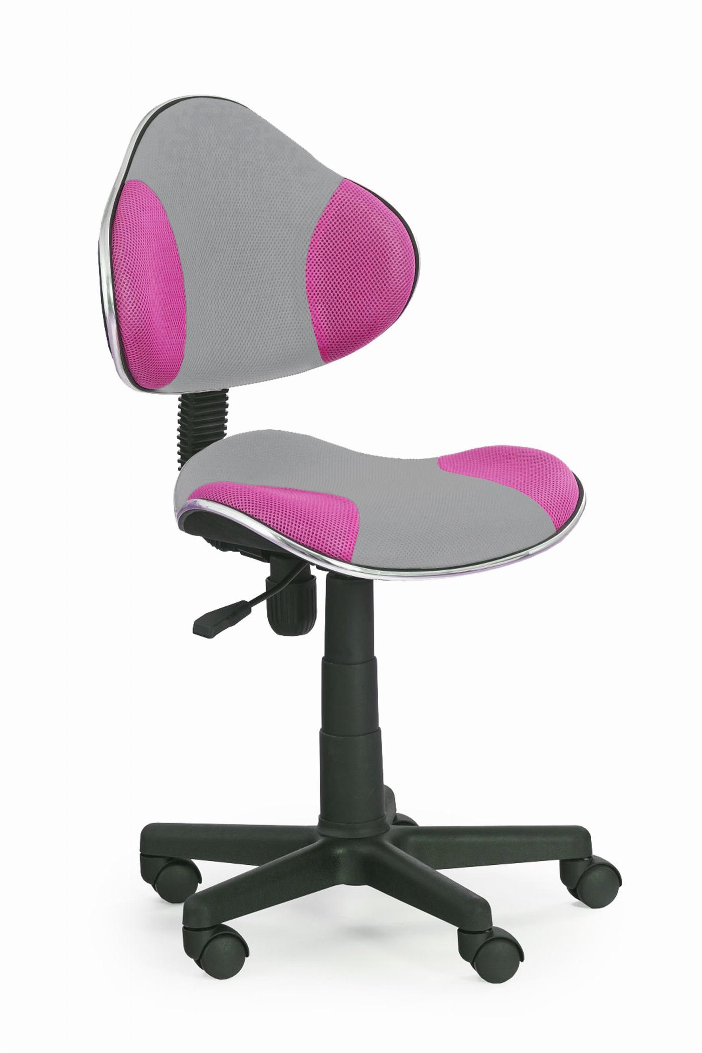 FLASH 2 fotel młodzieżowy szaro-różowy