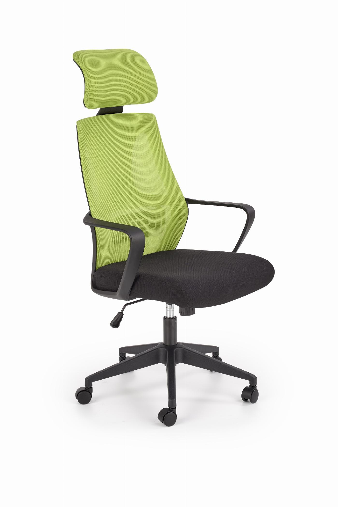 VALDEZ fotel pracowniczy zielony / czarny