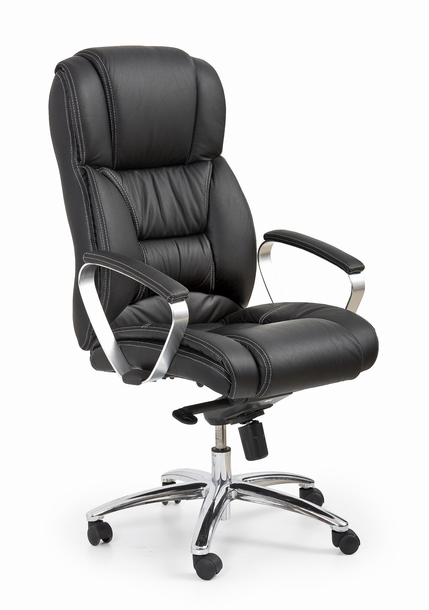 FOSTER fotel gabinetowy czarny - skóra