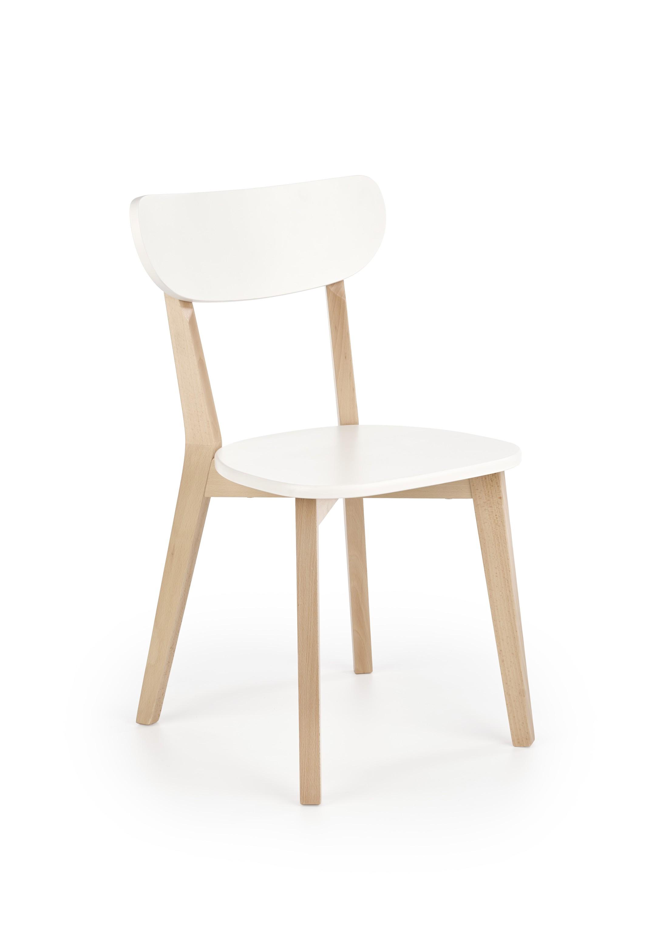 BUGGI krzesło naturalny / biały