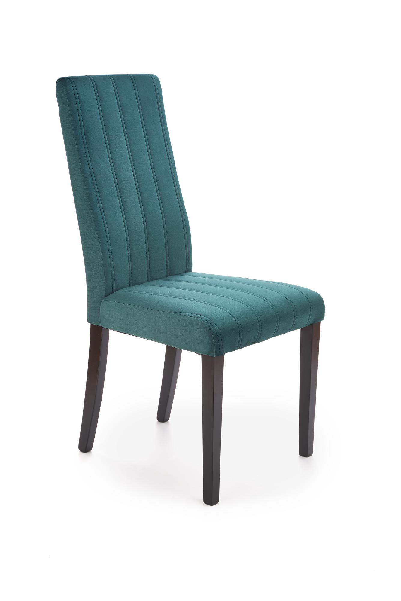 DIEGO 2 krzesło czarny / tap. velvet pikowany Pasy - MONOLITH 37 (ciemny zielony) (1p=1szt)