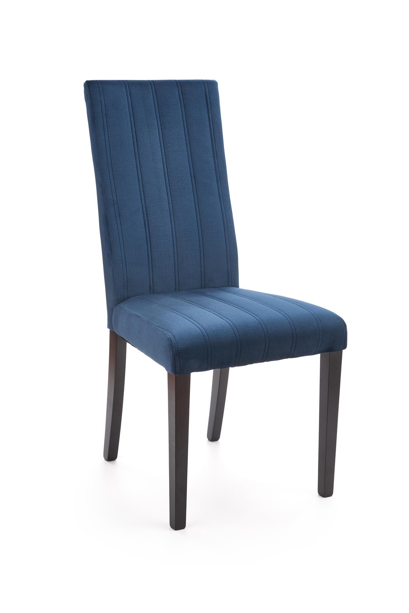 DIEGO 2 krzesło czarny / tap. velvet pikowany Pasy - MONOLITH 77 (granatowy) (1p=1szt)