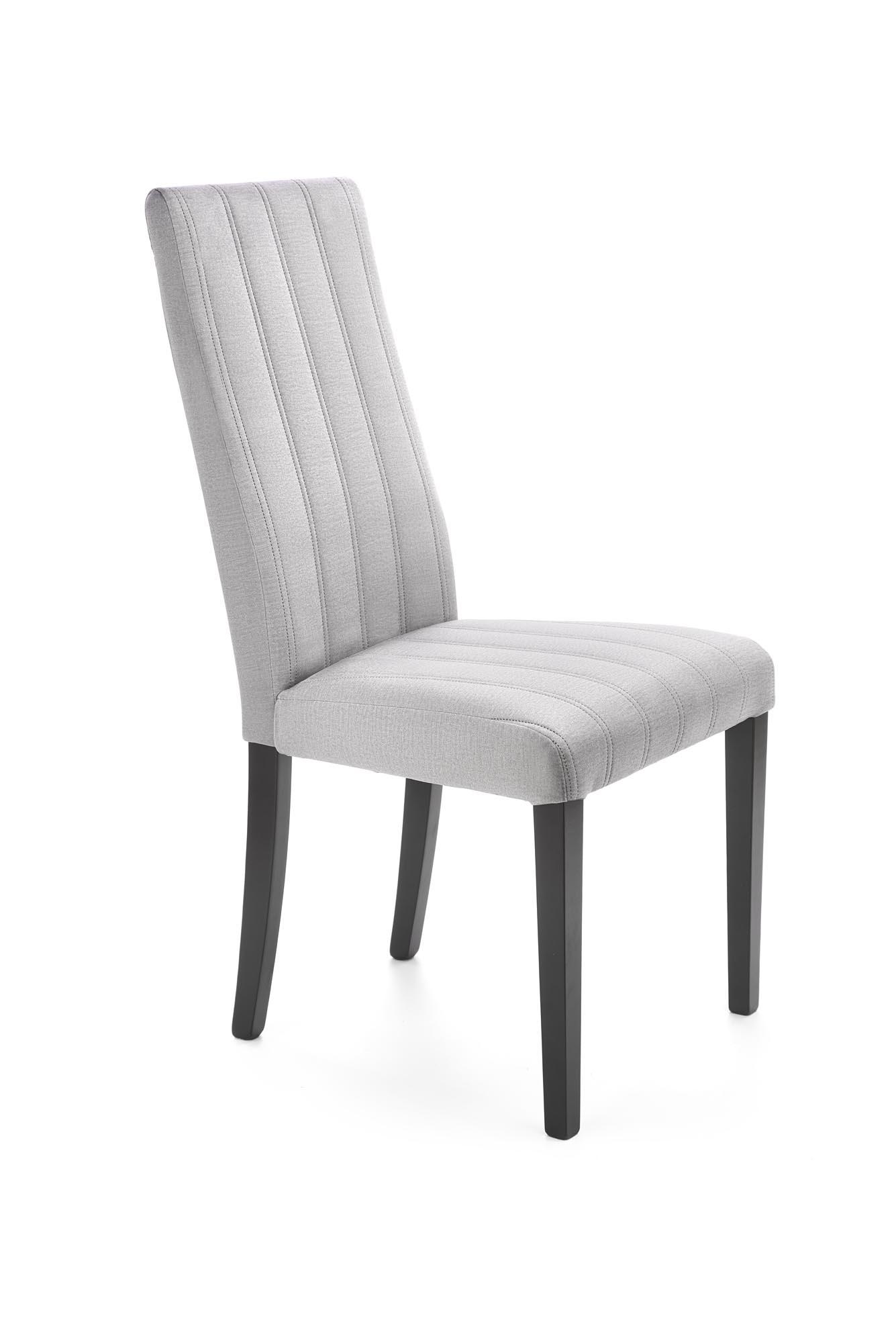 DIEGO 2 krzesło czarny / tap. velvet pikowany Pasy - MONOLITH 85 (jasny popiel) (1p=1szt)