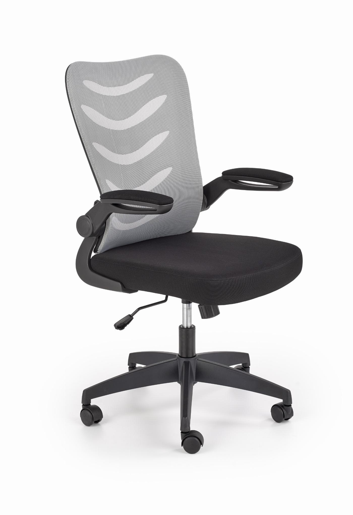 LOVREN fotel pracowniczy popielaty / czarny
