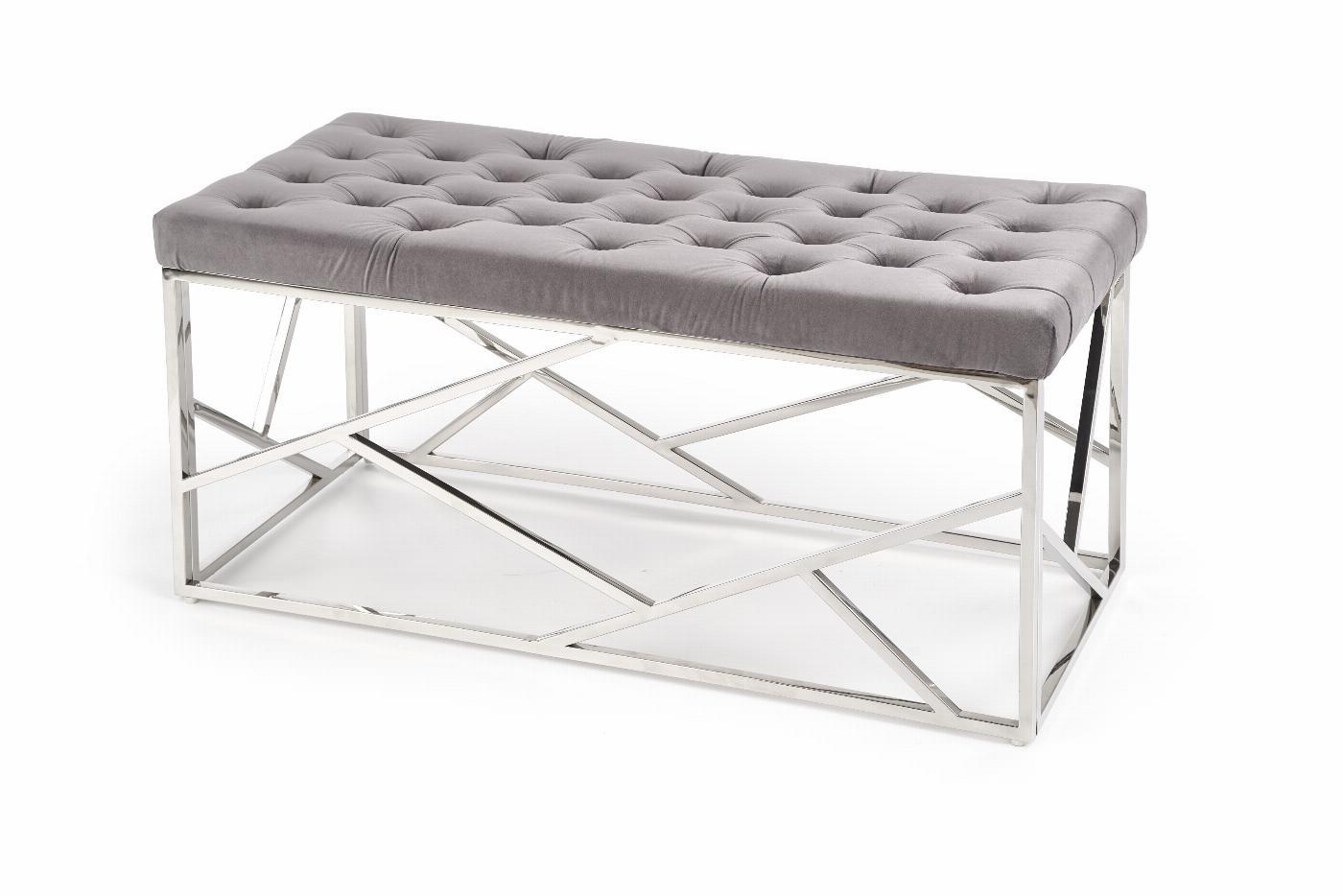 MILAGRO ławka, stelaż - srebrny, siedzisko - popielaty (1p=1szt)