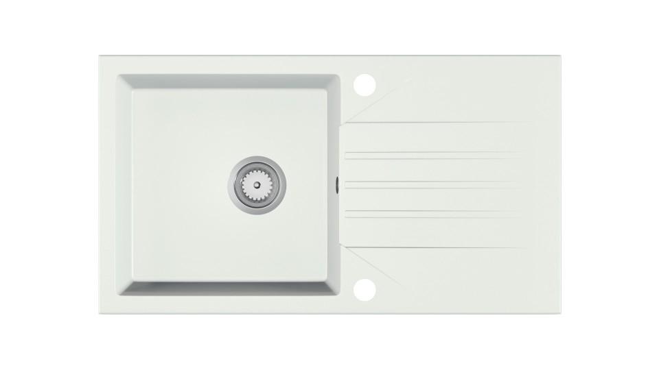 EVINION zlewozmywak granitowy biały (1p=1szt)
