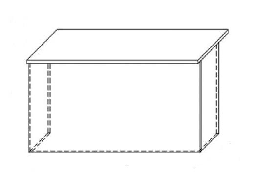 Lada recepcyjna VISTA LV2 - element prosty o wym. 140x70 cm