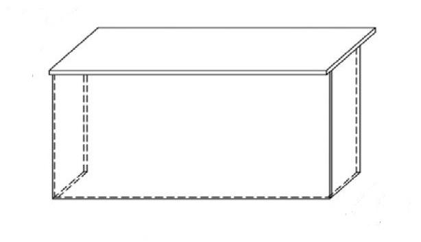 Lada recepcyjna VISTA LV3 - element prosty o wym. 160x70 cm
