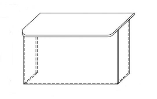 Lada recepcyjna VISTA LV4 - element prosty o wym. 120x85 cm