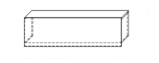 Nadstawka na ladę VISTA LVN9 - element prosty o dł. 140 cm
