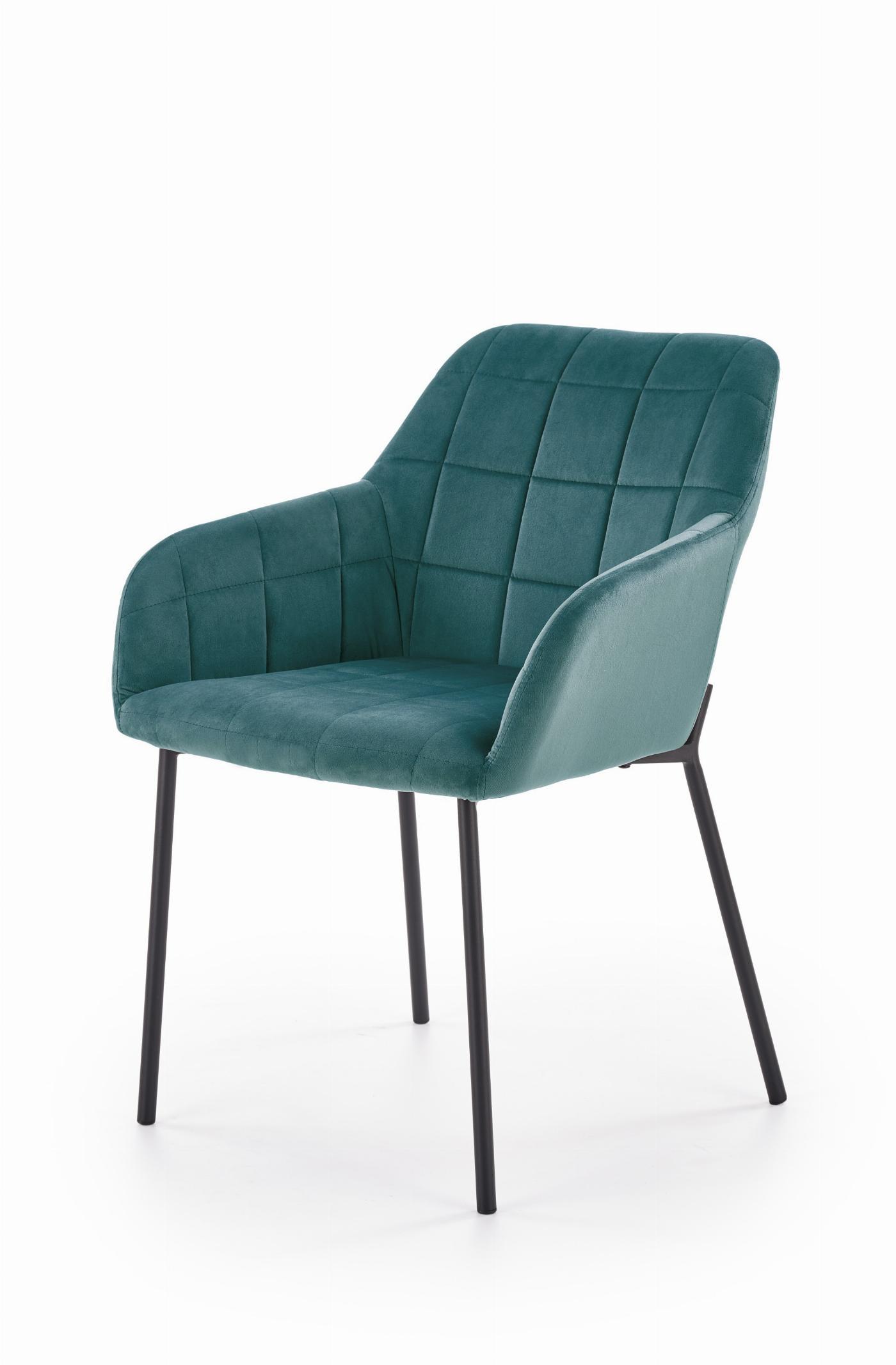 K305 krzesło czarny / ciemny zielony