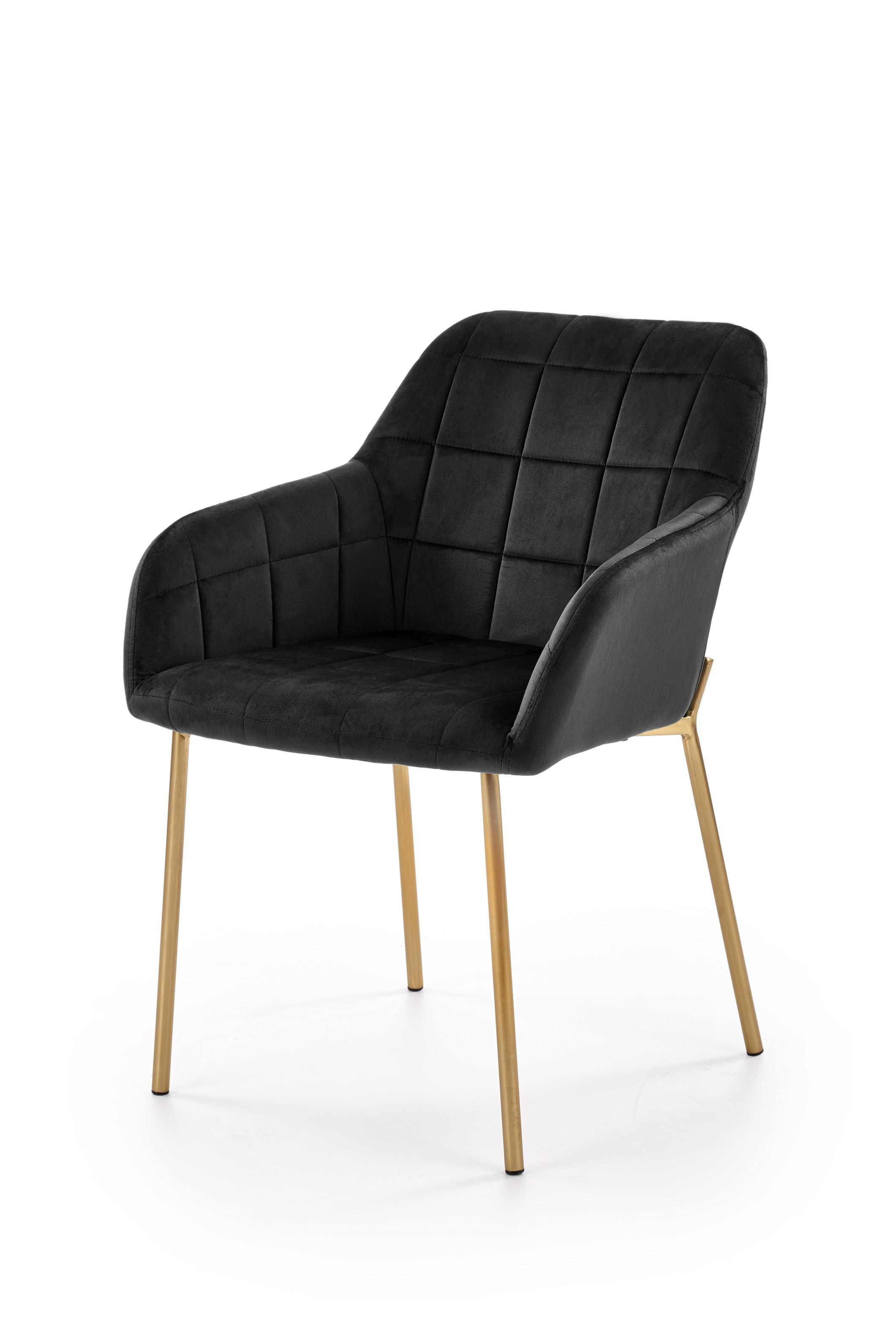 K306 krzesło złoty / czarny (1p=2szt)