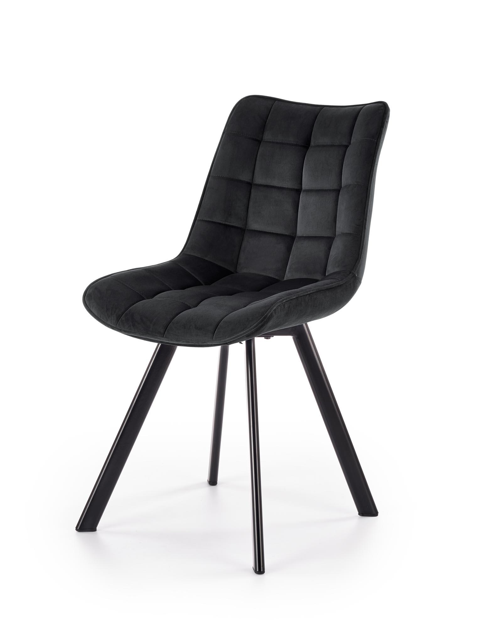 K332 krzesło nogi - czarne, siedzisko - czarny (1p=2szt)
