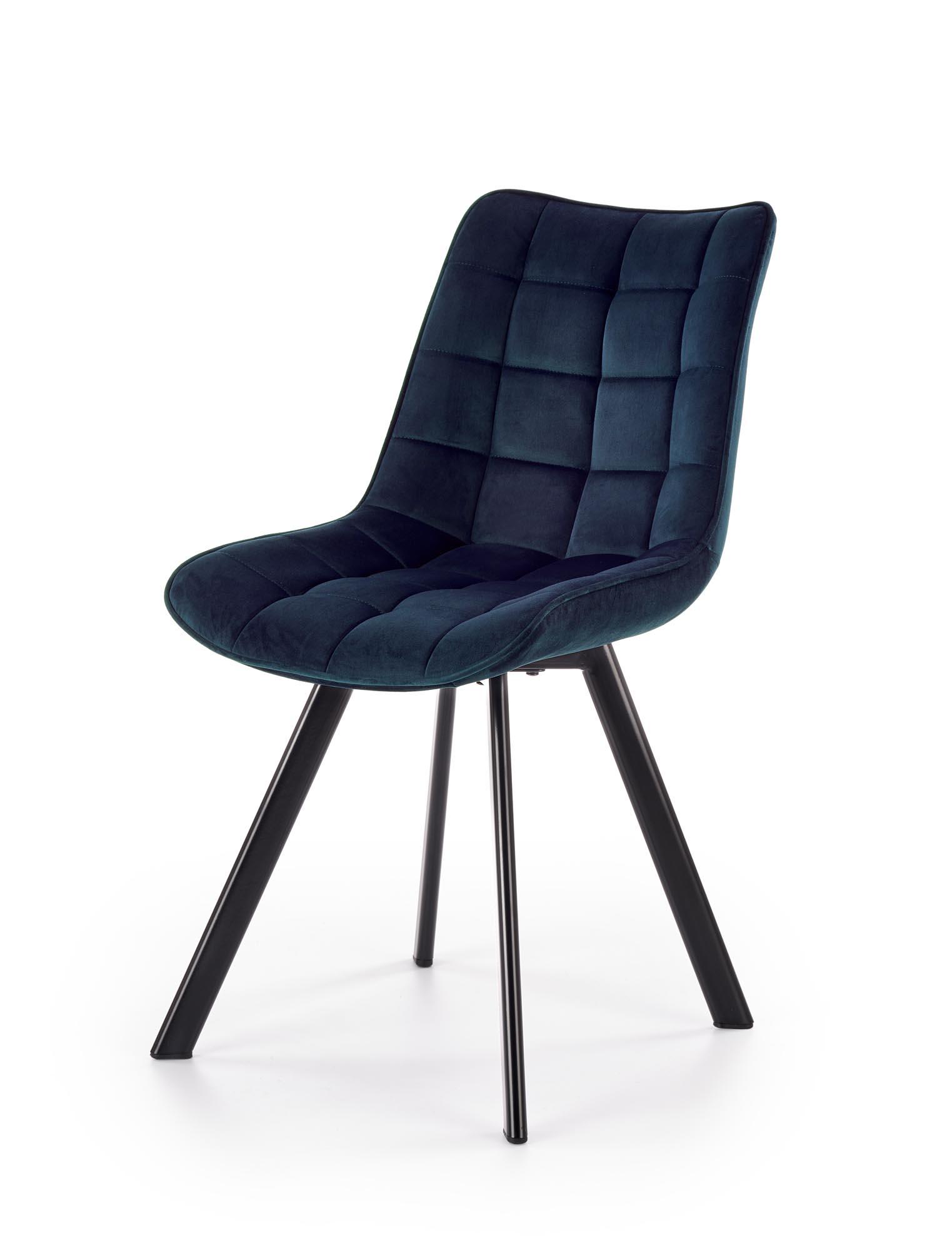 K332 krzesło nogi - czarne, siedzisko - granatowy