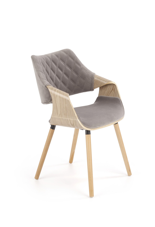 K396 krzesło jasny dąb / popielaty (1p=1szt)