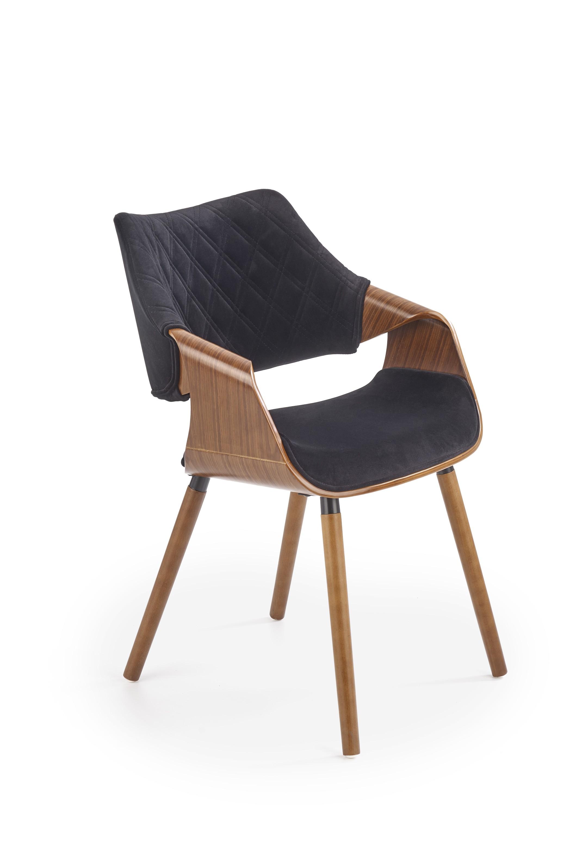 K396 krzesło orzechowy / czarny (1p=1szt)