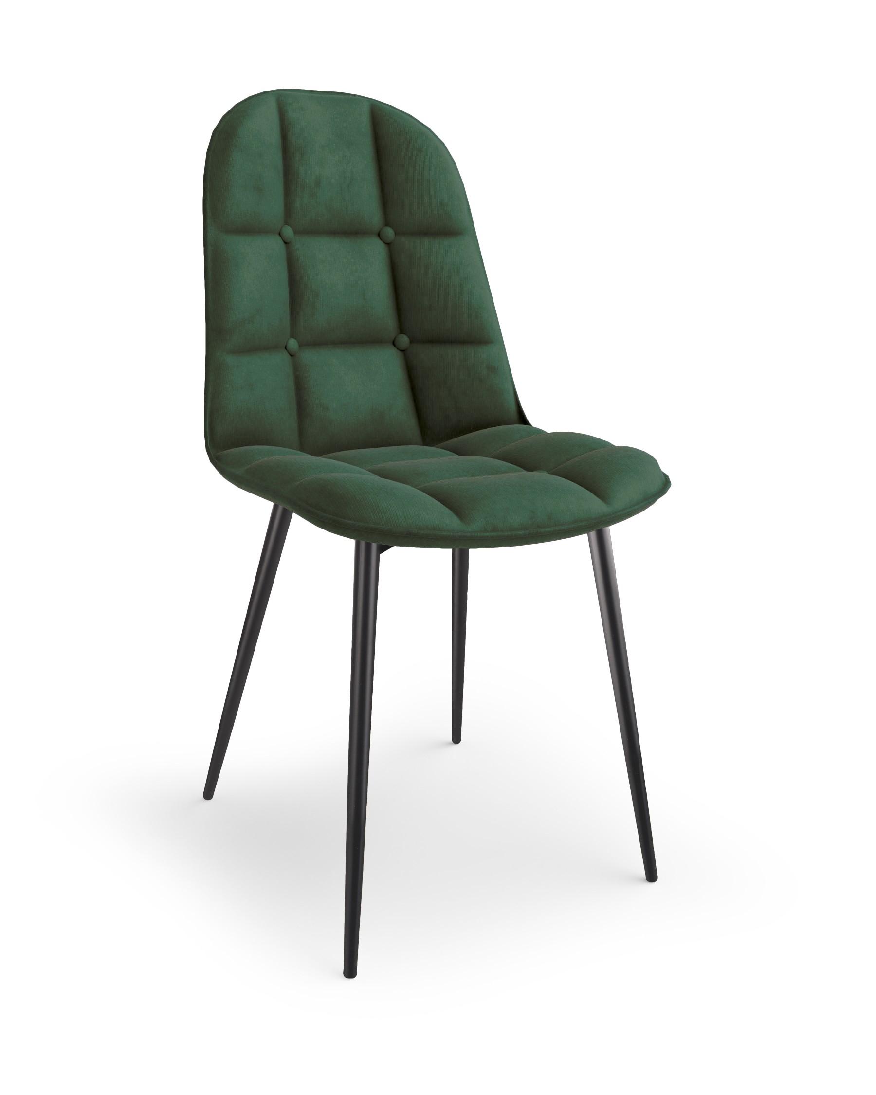 K417 krzesło ciemny zielony velvet