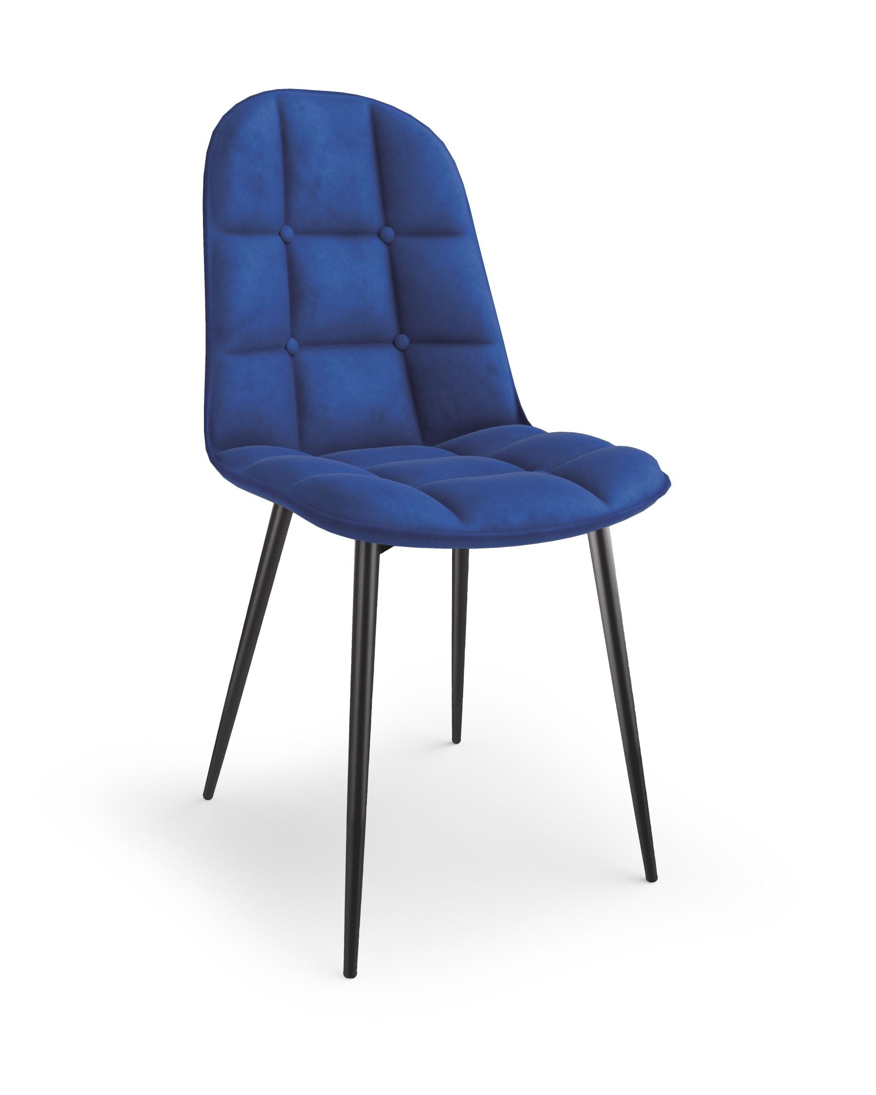 K417 krzesło granatowy velvet