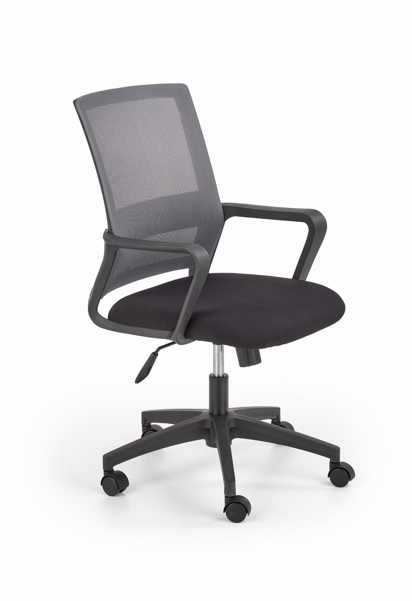 MAURO fotel pracowniczny czarny / popiel