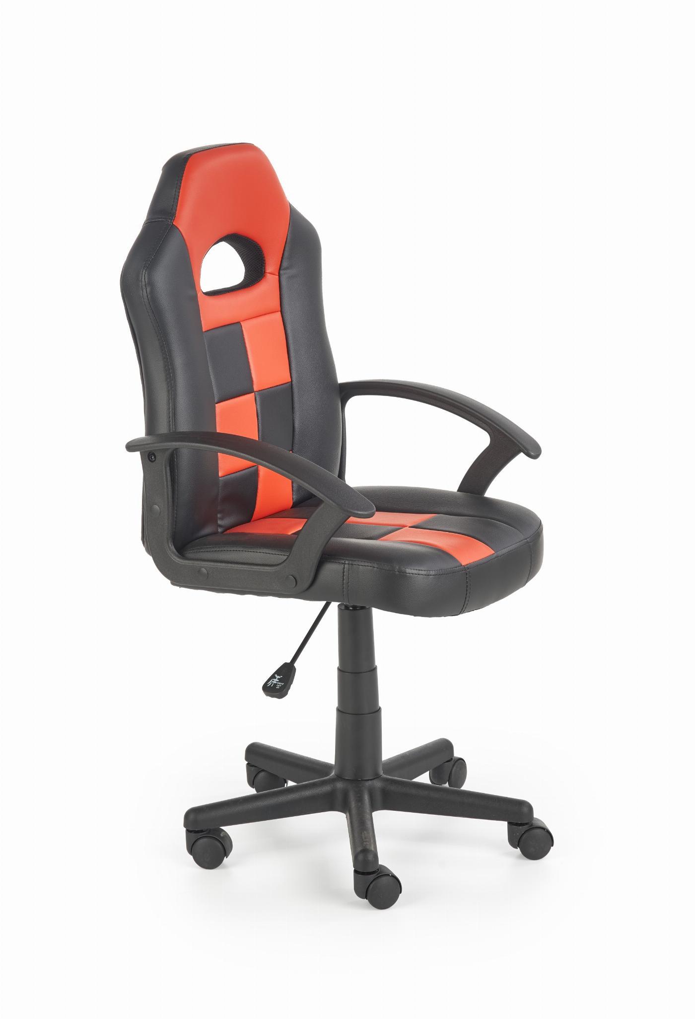 STORM fotel młodzieżowy czarny / czerwony