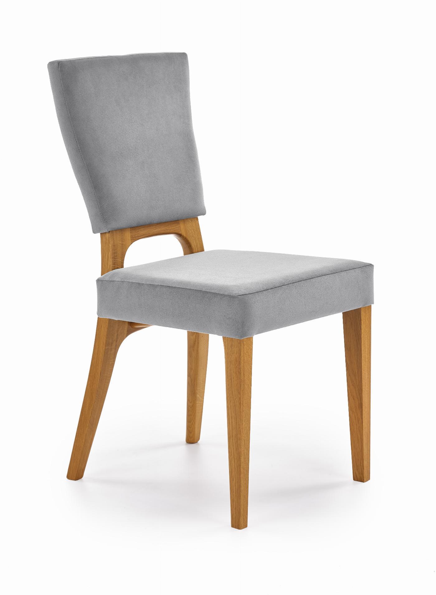 WENANTY krzesło dąb miodowy / popielaty (1p=2szt)