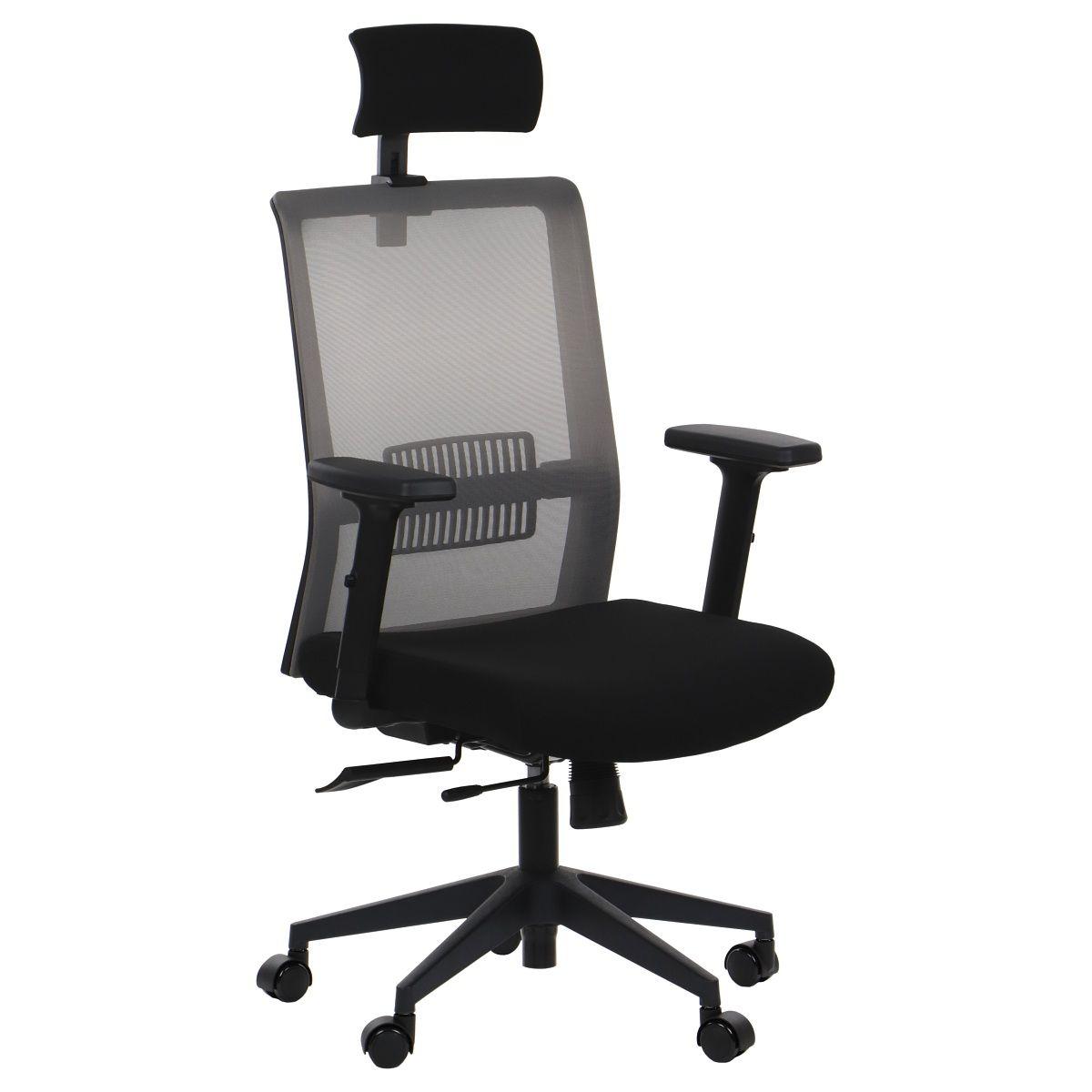 Fotel Biurowy obrotowy RIVERTON M/H czarny -szary