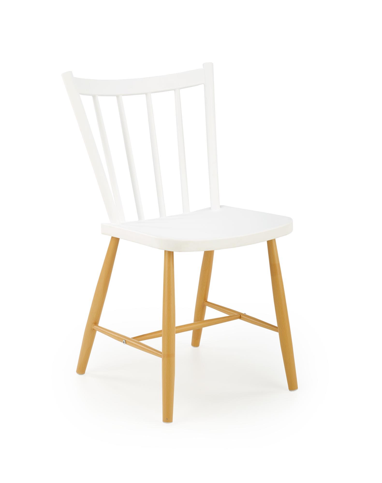 K419 krzesło, kolor: biały / naturalny