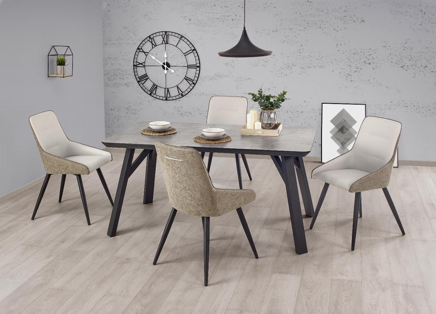 HALIFAX stół jasny beton (2p=1szt)