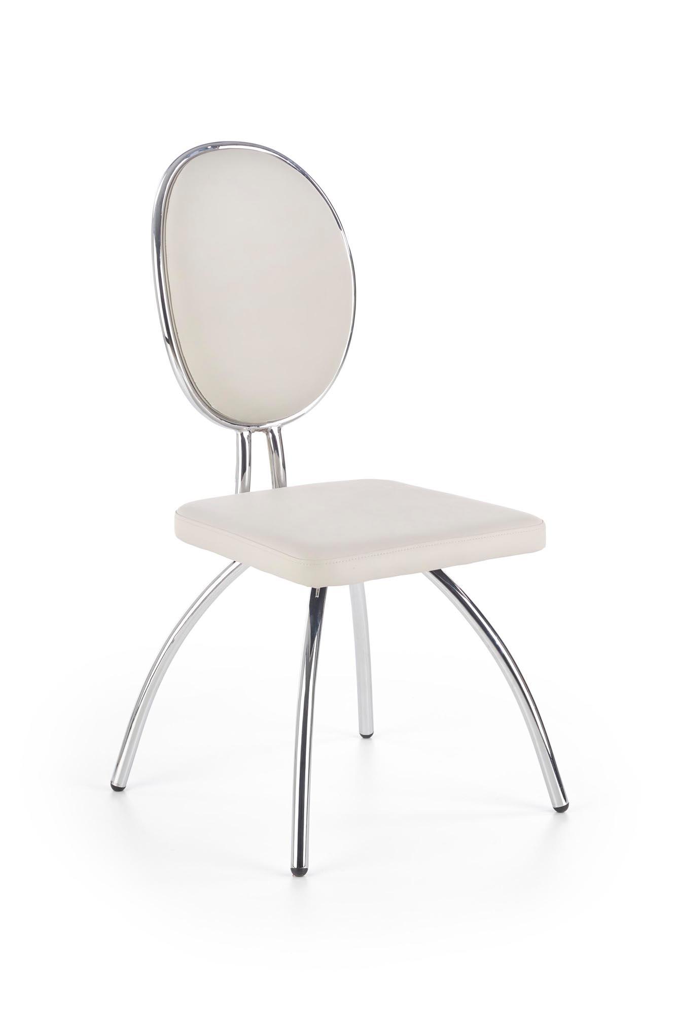 K297 krzesło jasny popiel / chrom (2p=4szt)