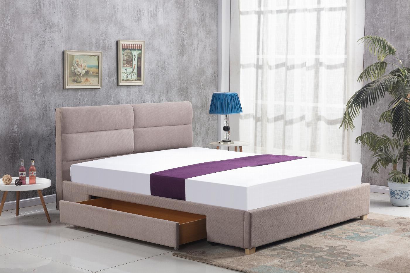 MERIDA łóżko z szufladą beżowy (2p=1szt)