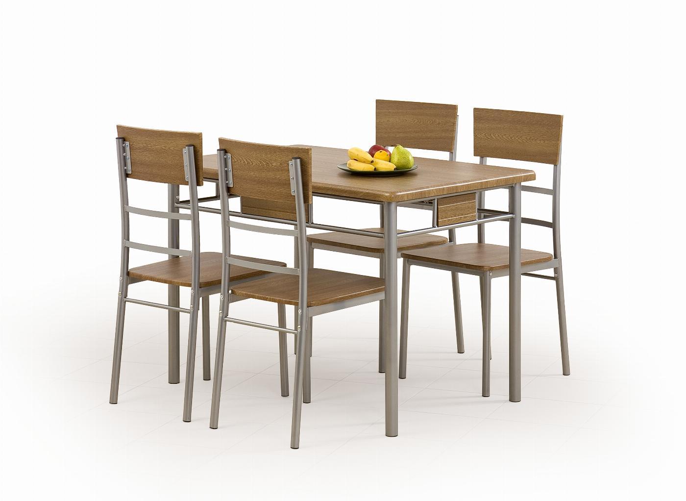 NATANIEL - NATAN zestaw stół + 4 krzesła (1kpl=1paczka)