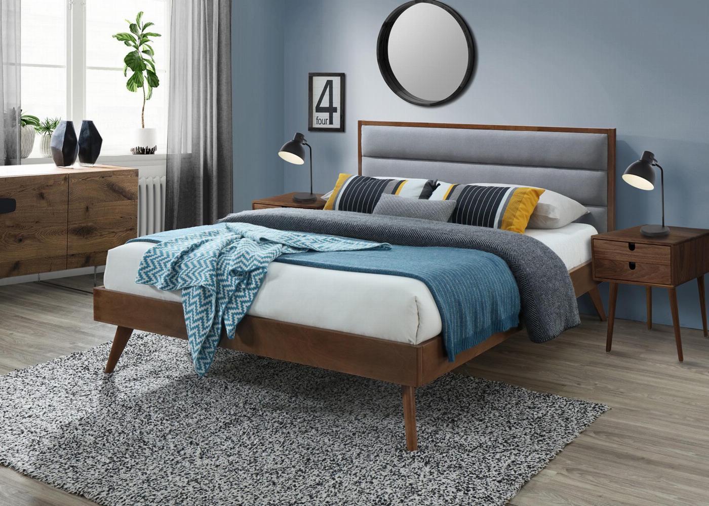ORLANDO łóżko popielaty / orzech (3p=1szt)