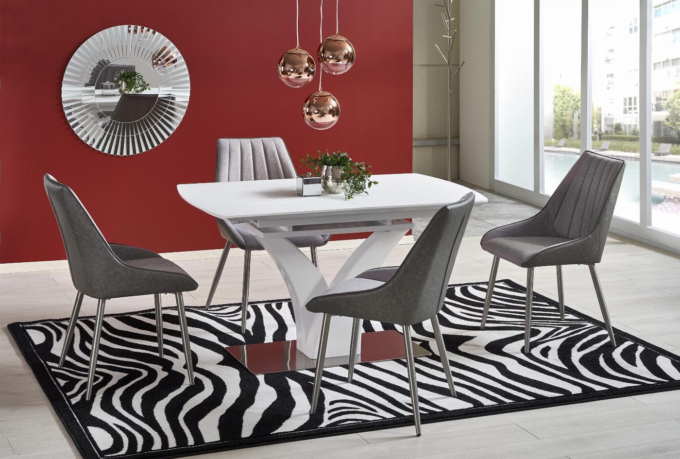 PALERMO stół rozkładany biały mat (3p=1szt)