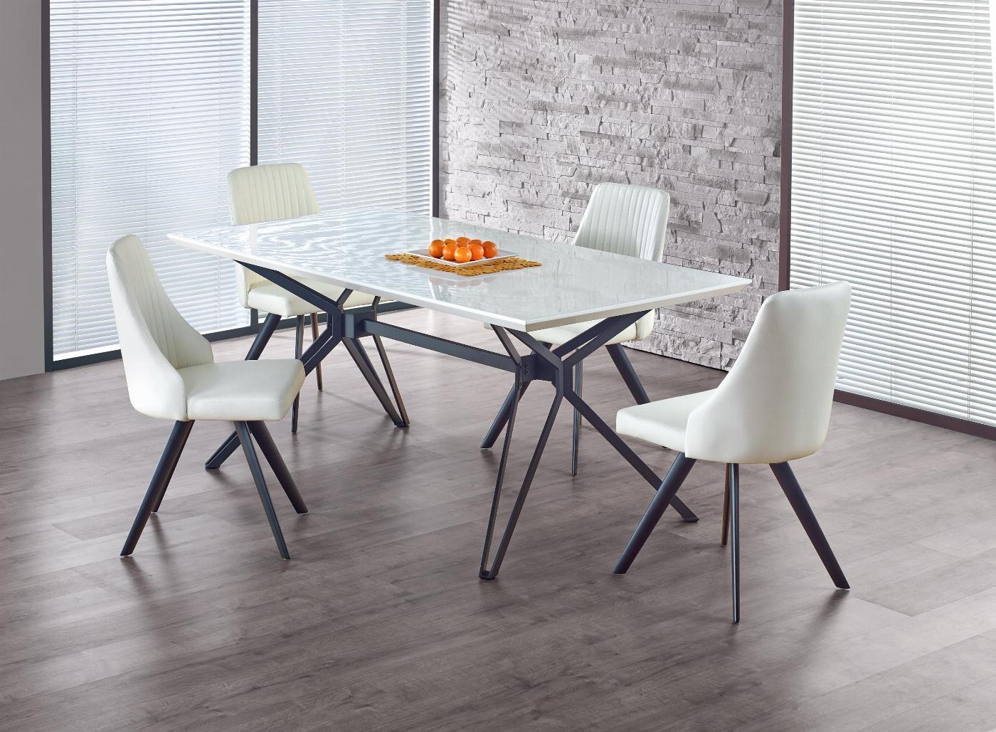 PASCAL stół biało - czarny (2p=1szt)