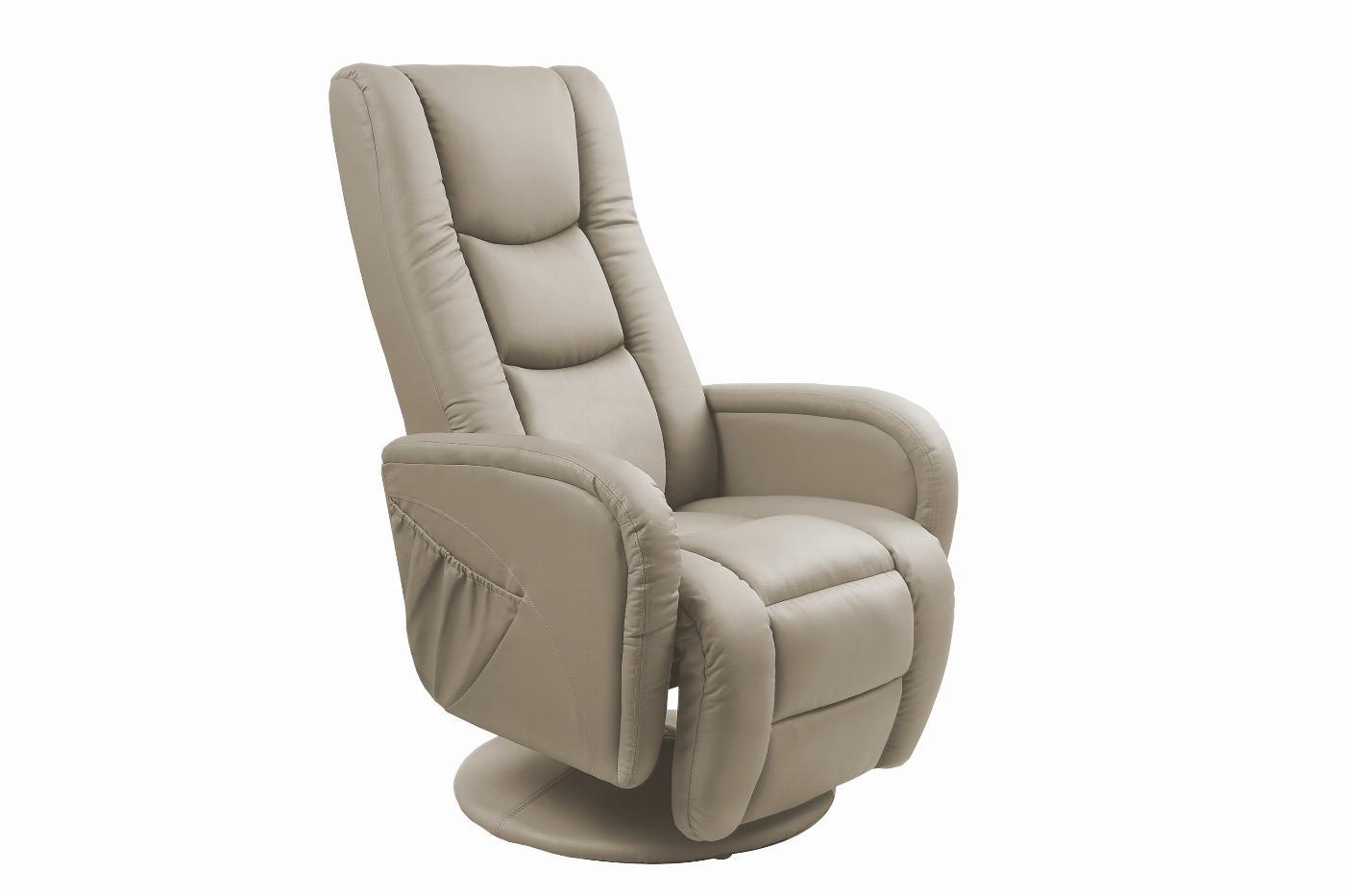 PULSAR recliner z funkcją masażu cappuccino