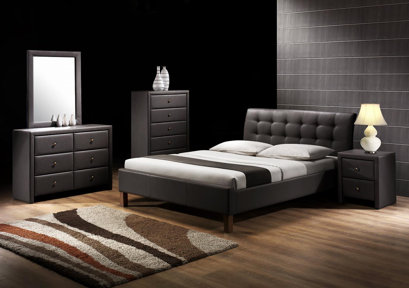 SAMARA 160 łóżko czarny (2p=1szt.)