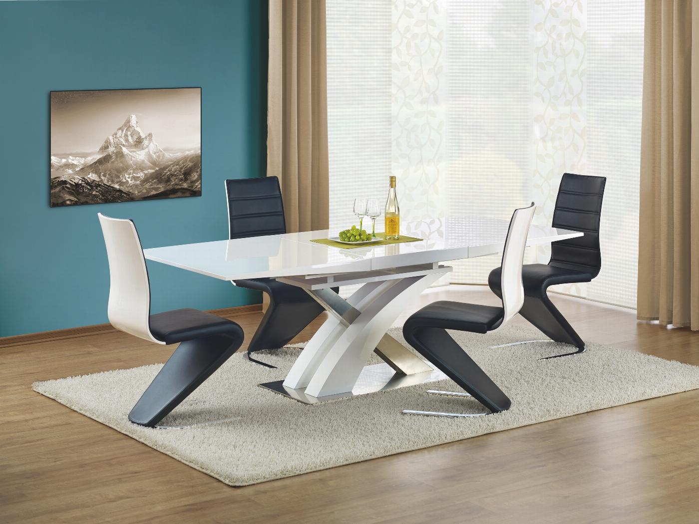 SANDOR stół rozkładany biały lakierowany (3p=1szt)